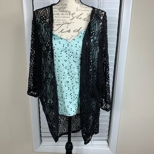 Bluebell black lace cardigan
